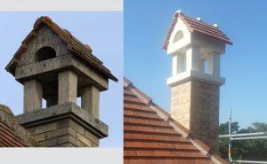 Réalisation de la copie d'une cheminée ancienne classée (Prunay)