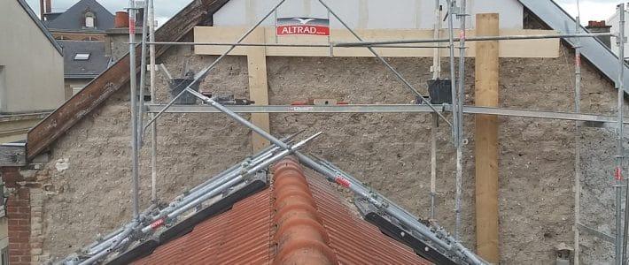 Echafaudage sur toiture