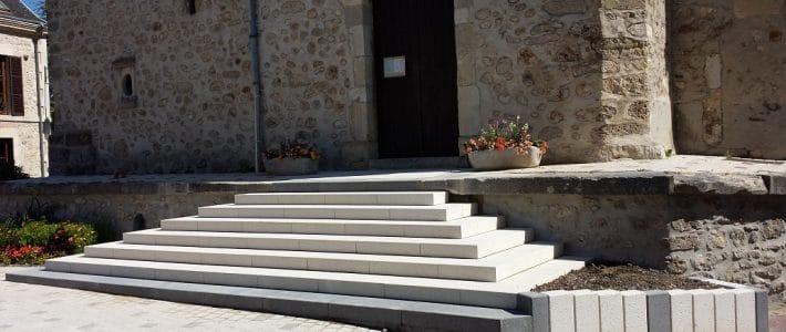 Escalier de l'église de Rilly-La-Montagne