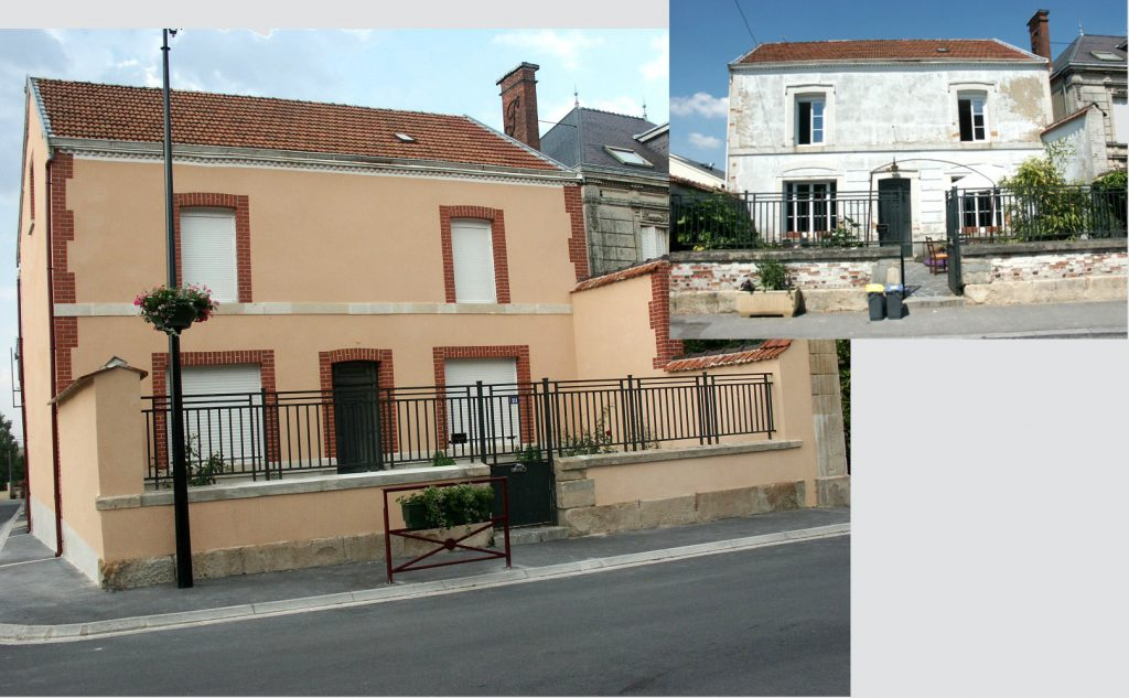 Ravalement de façade complet sur une maison (Rilly-La-Montagne)