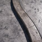 Béton imprimé bordure granit